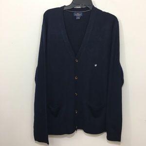 Brooks brothers men's cardigan wool button down XL
